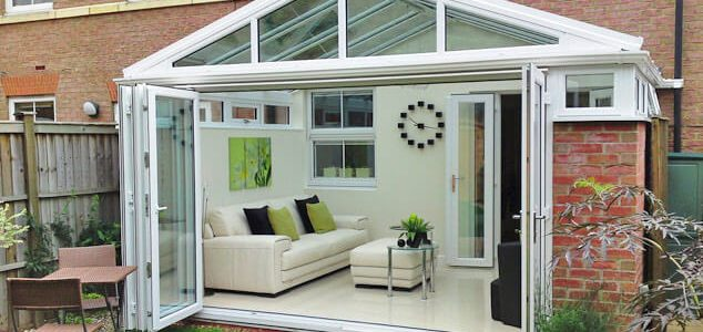 large conservatory with bifold doors